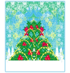 christmas tree background for your designs vector image vector image