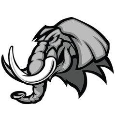 elephant mascot head graphic vector image vector image