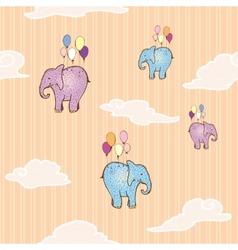 Flying elephant vector image