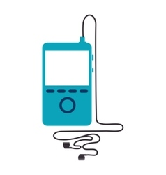 MP4 music player icon icon vector image vector image