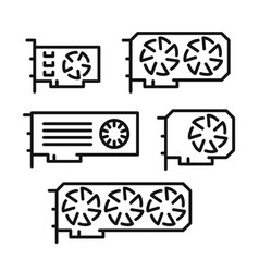 set of video cards icons vector image vector image