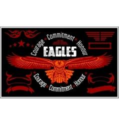 Vintage label Eagle - Retro emblem vector image vector image