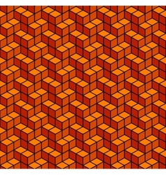 Abstract Geometric Orange Seamless Background vector image