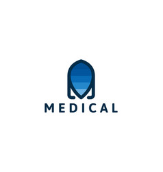 abstract medical logo designs inspiration vector image