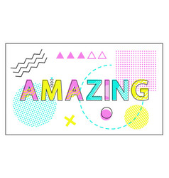 amazing banner with geometrical figures and lines vector image