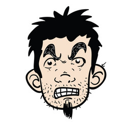Angry face vector