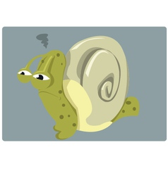 Angry snail vector