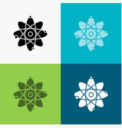 atom nuclear molecule chemistry science icon over vector image