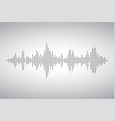 Audio wave from smal dost voice sound music shape vector