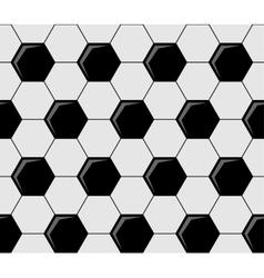 Background pattern soccer ball pentagons vector