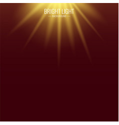 background with rays sunlight bright flash vector image