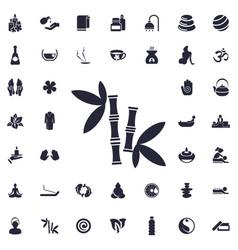 Bamboo icon vector