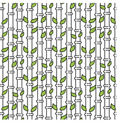 Bamboo tree stem seamless pattern vector