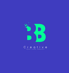 Bb letter logo design with negative space concept vector