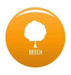 beech tree icon orange vector image