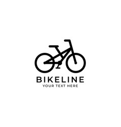 bicycle line graphic design template isolated vector image