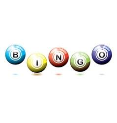 Bingo balls bounce vector image vector image