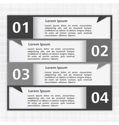 Black and White Design Template vector image
