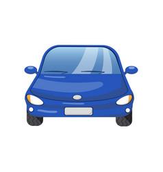 blue car front view auto insurance concept vector image