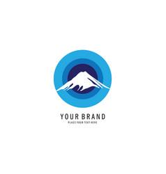 blue mount symbol logo vector image