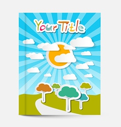 Book or Flyer - Leaflet Cover Design with vector