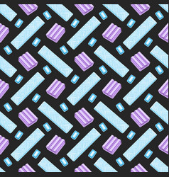 bubble gum seamless pattern vector image