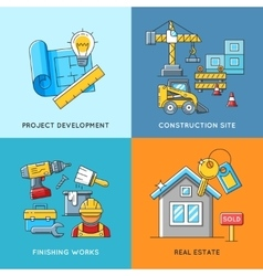 Building concepts Engineering construction vector