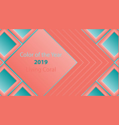 color of the year background vector image