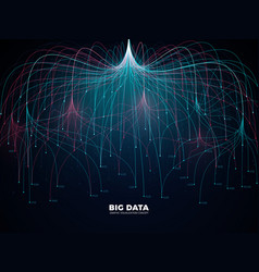Complex information big data visualization vector