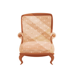 cozy wooden armchair for living room comfortable vector image