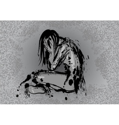 dark depression vector image