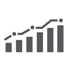 diagram glyph icon report and graph growth chart vector image
