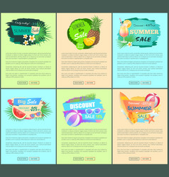 discount promo posters advertisement leaflets set vector image