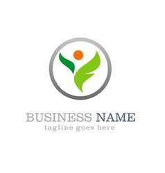 Ecology swoosh logo design vector