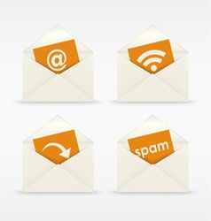 Envelope icon mail template vector