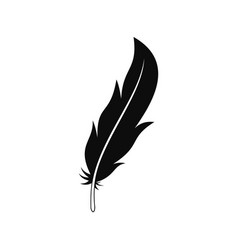 feather icon simple style vector image