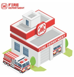 Fire Department building vector image