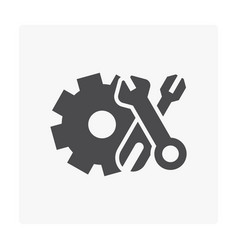 gear tool icon vector image