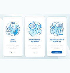 Genetic defects results blue onboarding mobile vector