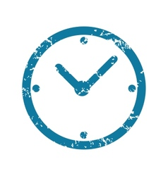Grunge clock icon vector