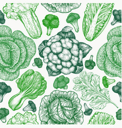 hand drawn sketch vegetables organic fresh food vector image