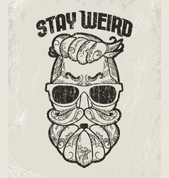 hipster t-shirt design retro style grunge print vector image
