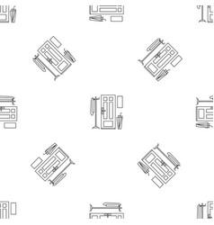 Home door interior pattern seamless vector
