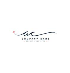 Initial letter ac logo - handwritten signature vector