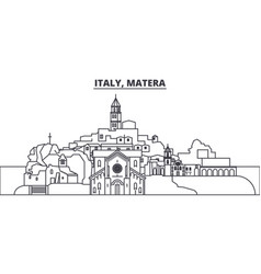 italy matera line skyline vector image
