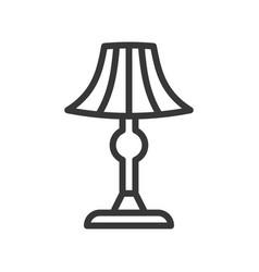 lantern or lamp icon line style editable stroke vector image