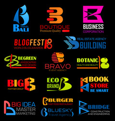 Letter b company or brand identity vector