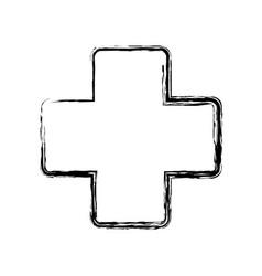 Medical cross icon vector