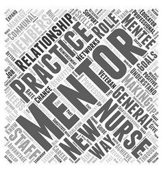mentoring and nursing Word Cloud Concept vector image vector image