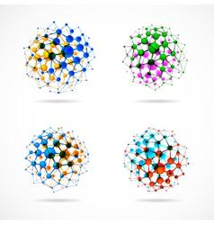 Molecular structures set vector